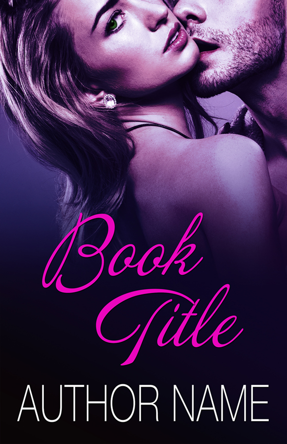Sexy erotic couple embracing romance premade book cover