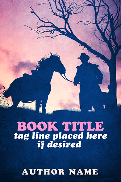 Sweet romance western cowboy premade book cover